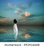 fantasy image of a beautiful... | Shutterstock . vector #492416668