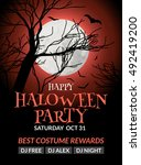 halloween flyer or poster... | Shutterstock .eps vector #492419200