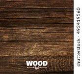 realistic wood texture... | Shutterstock .eps vector #492419560