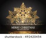 elegant christmas background... | Shutterstock .eps vector #492420454
