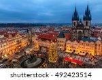 prague  czech republic  ... | Shutterstock . vector #492423514