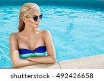 beautiful phenomenal stunning... | Shutterstock . vector #492426658