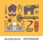country india  indian culture ... | Shutterstock .eps vector #492430600