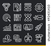 vector lines icons pack... | Shutterstock .eps vector #492431410