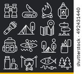 vector lines icons pack... | Shutterstock .eps vector #492431440