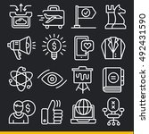 vector lines icons pack... | Shutterstock .eps vector #492431590