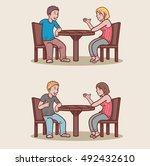 couple in a date | Shutterstock .eps vector #492432610