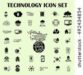 technology innovation icons set.... | Shutterstock .eps vector #492434854