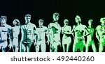 human resources management... | Shutterstock . vector #492440260