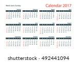 2017 calendar vector design...   Shutterstock .eps vector #492441094