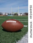 football field and goal - stock photo