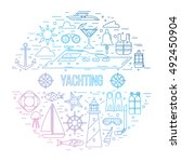 yachting concept illustration.... | Shutterstock .eps vector #492450904