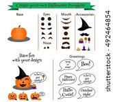 create your own halloween... | Shutterstock .eps vector #492464854