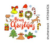 greeting card design with... | Shutterstock .eps vector #492466426