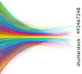 abstract moving colorful lines... | Shutterstock .eps vector #492467248