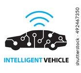 smart car intelligent vehicle... | Shutterstock .eps vector #492467350