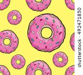 Donut Pattern. A Donut With...