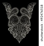 neckline ethnic design.... | Shutterstock .eps vector #492476518