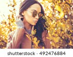 outdoor fashion photo of young... | Shutterstock . vector #492476884