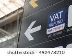 vat refund sign in a airport | Shutterstock . vector #492478210