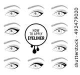 various types of eyeliner ...   Shutterstock .eps vector #492479020