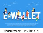 e wallet concept illustration...   Shutterstock .eps vector #492484519