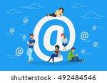 symbol at concept illustration... | Shutterstock .eps vector #492484546