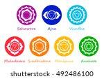 chakra symbols | Shutterstock .eps vector #492486100