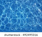 clear blue water in a swimming... | Shutterstock . vector #492495316