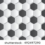 paper soccer seamless pattern. | Shutterstock .eps vector #492497290