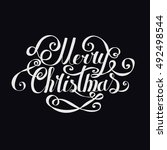 """lettering """"merry christmas and...   Shutterstock .eps vector #492498544"""