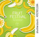 fruit festival   fruit elements ... | Shutterstock .eps vector #492501184