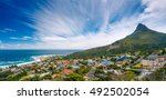 camps bay and lion's head... | Shutterstock . vector #492502054