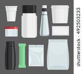 cosmetics containers vector set....   Shutterstock .eps vector #492503233