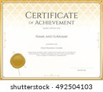 certificate template for... | Shutterstock .eps vector #492504103
