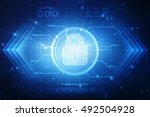 2d illustration safety concept  ... | Shutterstock . vector #492504928