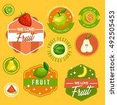 fruit festival   fruit badge... | Shutterstock .eps vector #492505453