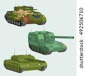 military vector tanks image... | Shutterstock .eps vector #492506710