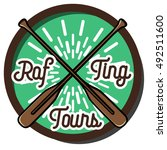 color vintage rafting emblem   | Shutterstock . vector #492511600