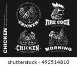 set chicken logo   emblem...   Shutterstock .eps vector #492514810