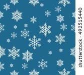 snowflake vector pattern. | Shutterstock .eps vector #492515440