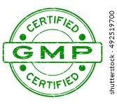 grunge green gmp  good... | Shutterstock .eps vector #492519700