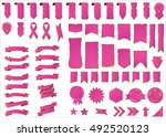 ribbon pink vector icon on... | Shutterstock .eps vector #492520123