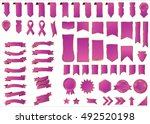 ribbon pink vector icon on... | Shutterstock .eps vector #492520198
