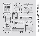 modern block quote and pull... | Shutterstock .eps vector #492522016