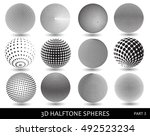 abstract halftone 3d spheres... | Shutterstock .eps vector #492523234