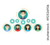 office hierarchy concept | Shutterstock . vector #492526936