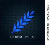 barley blue metallic chromium...   Shutterstock .eps vector #492527530
