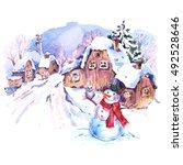 Cozy Countryside Watercolor...