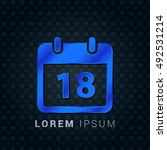 18th calendar blue metallic...